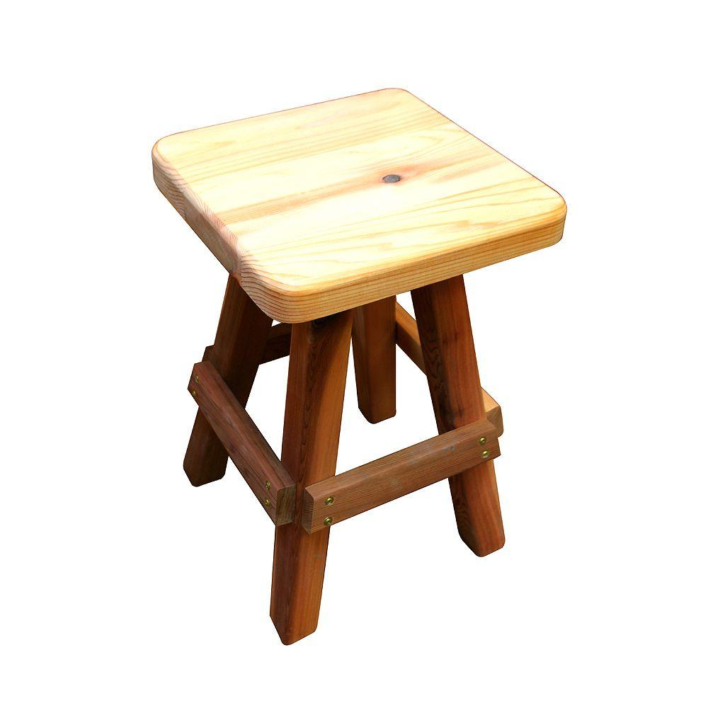 Gronomics 13 In. X 13 In. X 20 In. Wood Garden Stool