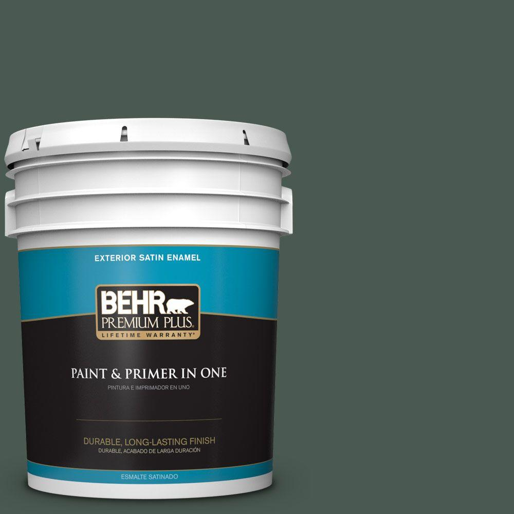 5-gal. #S420-7 Secluded Woods Satin Enamel Exterior Paint
