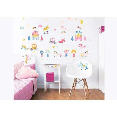 Pink Unicorn Kingdom Wall Stickers