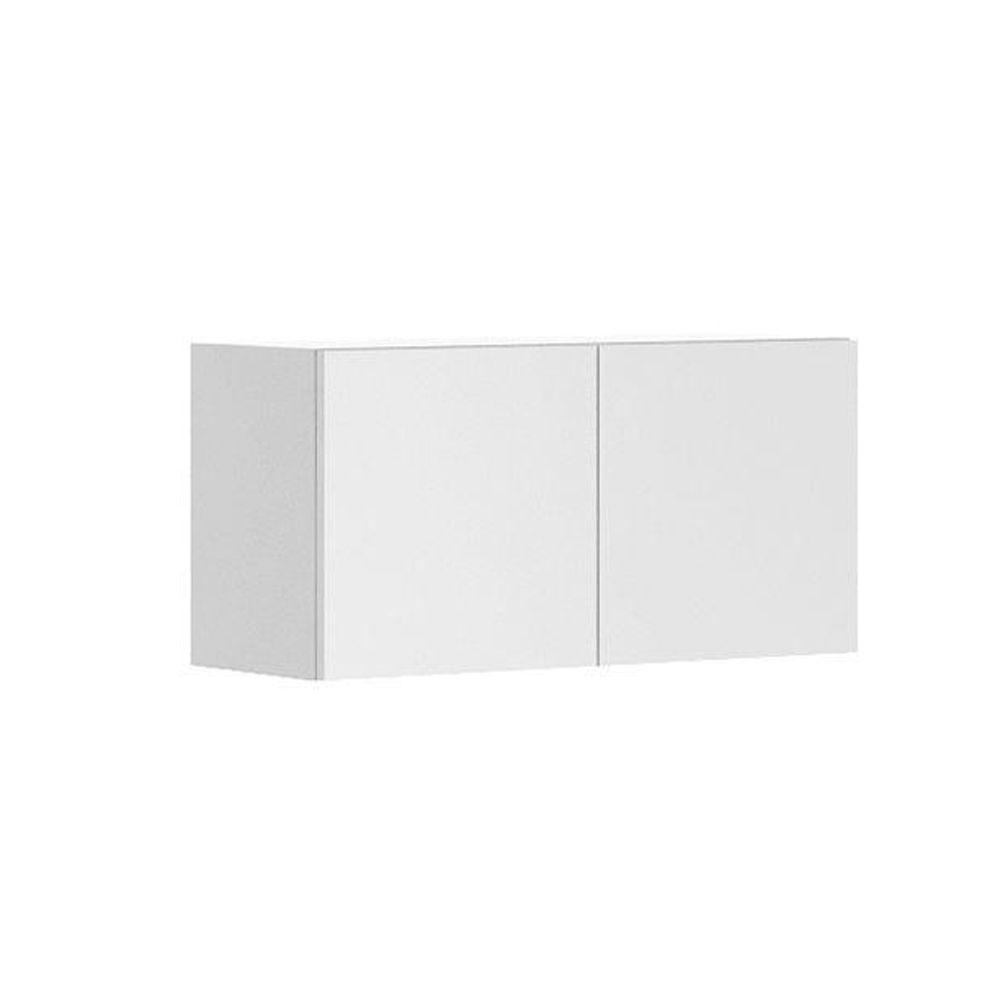 Eurostyle Alexandria Ready to Assemble 30 x 15 x 12.5 in. Wall Bridge Cabinet in White Melamine and Door in White