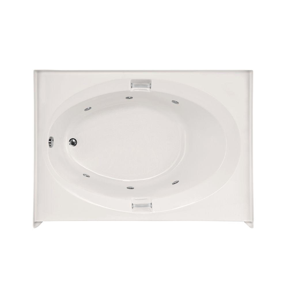 Sonoma 5 ft. Left Drain Whirlpool Tub in White