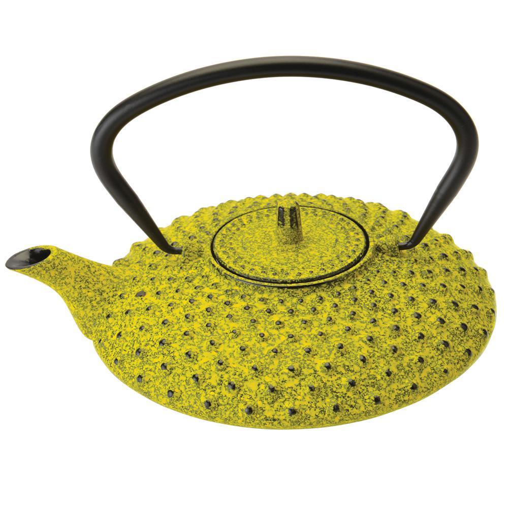 Studio 3.4-Cup Yellow Cast Iron Teapot