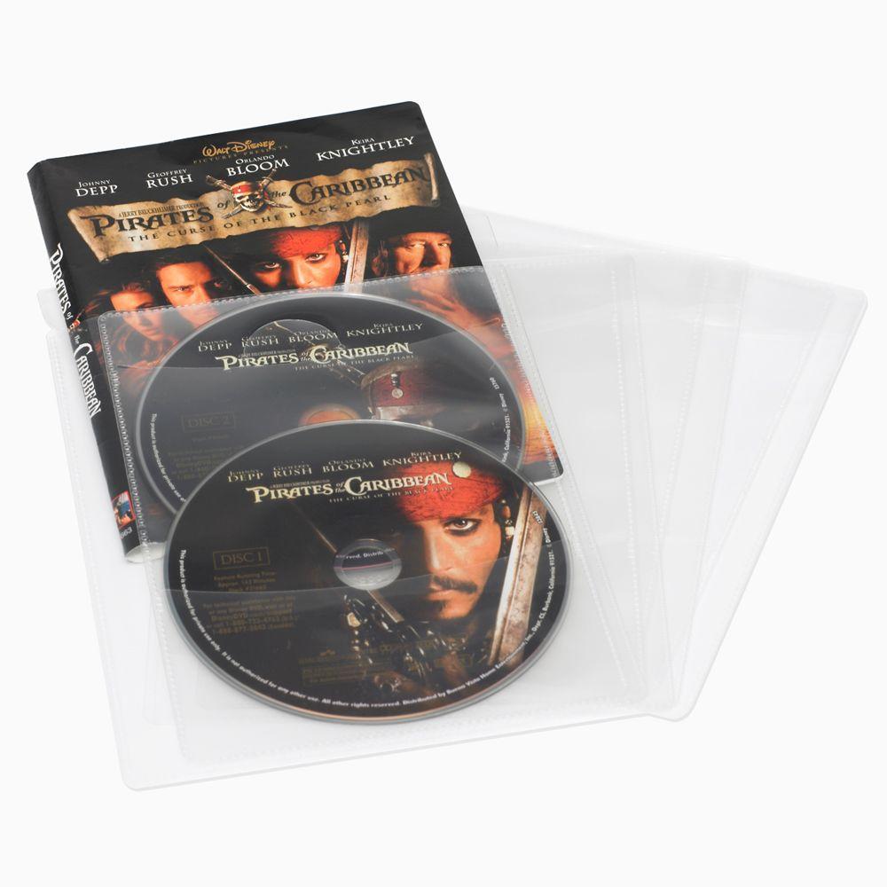 Atlantic 25 CD DVD or Blu-Ray Media Living Clear Movie Sleeves