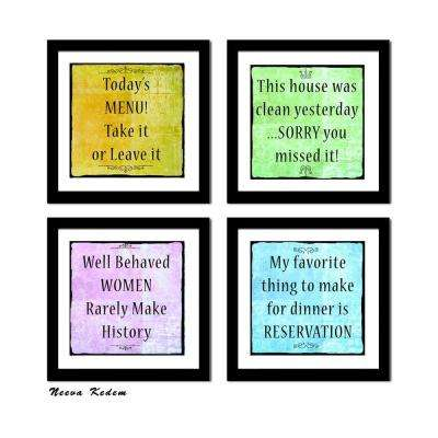 "Four 10 in. x 10 in. ""Fun Art 3"" by Neeva Kedem Framed Printed Wall Art"