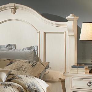aae249a731d American Woodcrafters Heirloom Antique White Queen Poster Bed-2910 ...