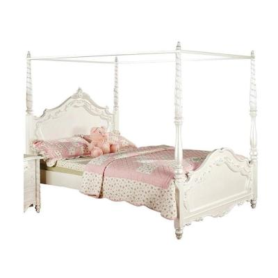 Canopy Wood White Beds Bedroom, Naples White Queen Canopy Bed