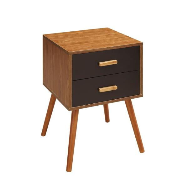 Oslo Java 2-Drawer End Table