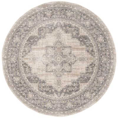 Brentwood Cream/Gray 9 ft. x 9 ft. Round Area Rug
