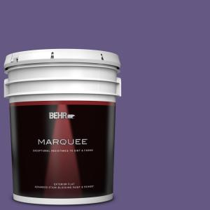 Behr Marquee 5 Gal 640b 7 Berry Jam Flat Exterior Paint Primer 445305 The Home Depot