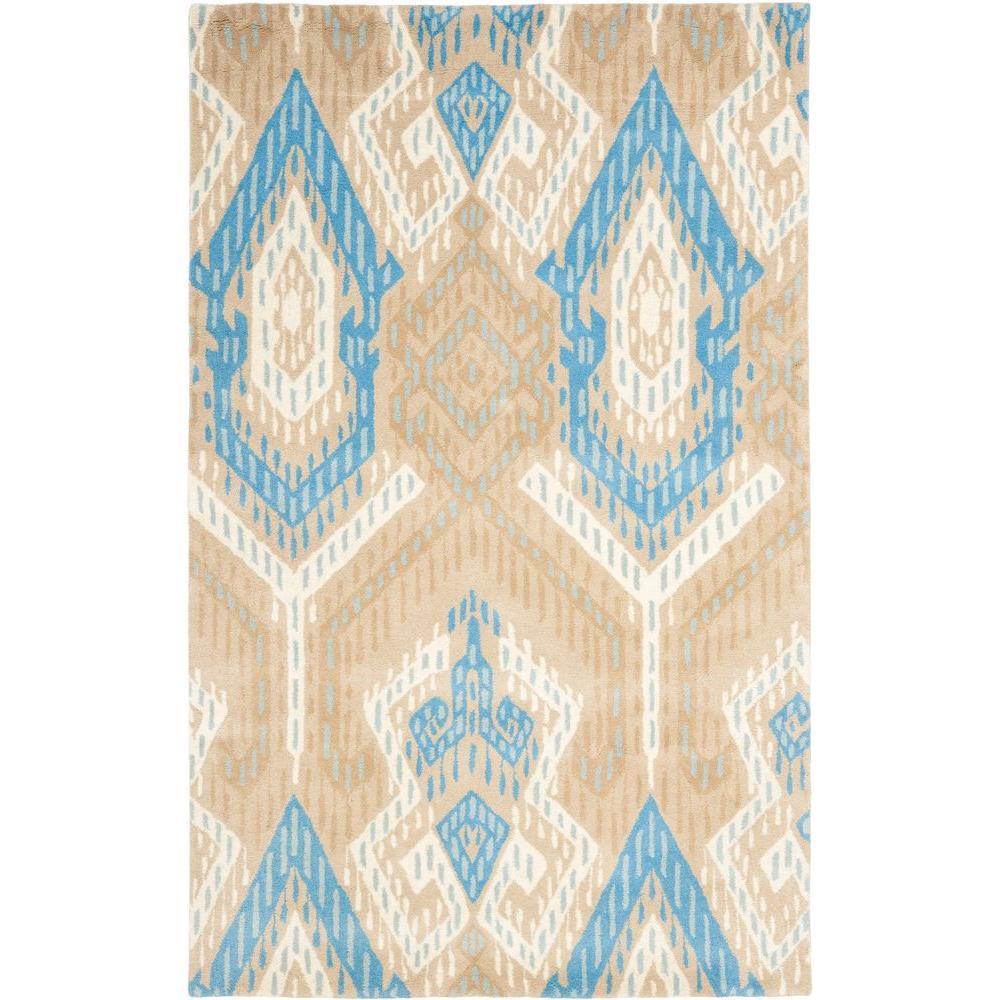 Wyndham Blue/Ivory 4 ft. x 6 ft. Area Rug