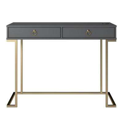 Pru Graphite Gray Writing Desk