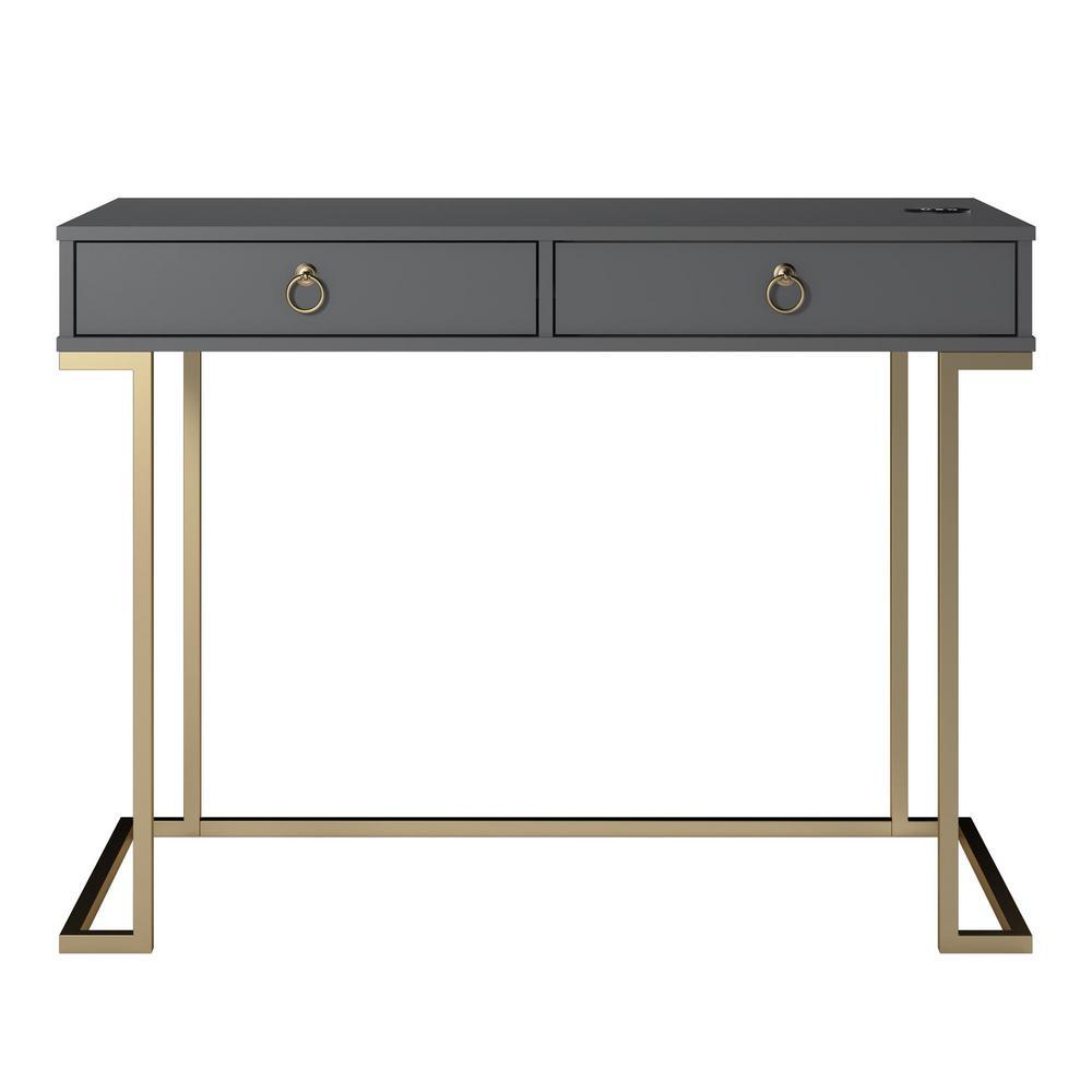 Ameriwood Pru Graphite Gray Writing Desk HD46933