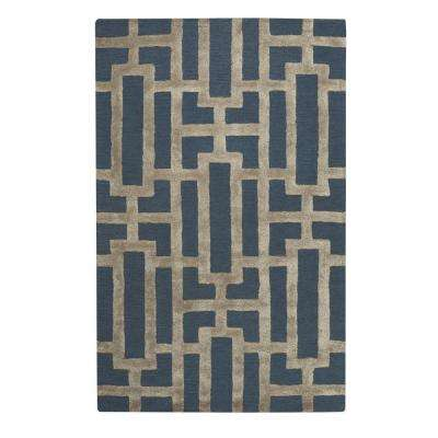 Classic Navy 9 ft. 6 in. x 13 ft. 6 in. Area Rug