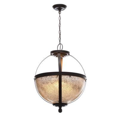 Sfera 18.5 in. W. 3-Light Autumn Bronze Pendant with Mercury Glass
