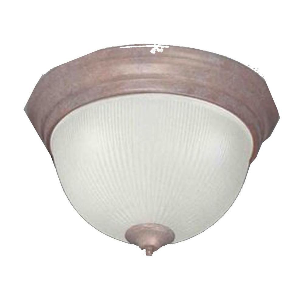 Filament Design Lenor 1-Light Prairie Rock Incandescent Ceiling Flush Mount