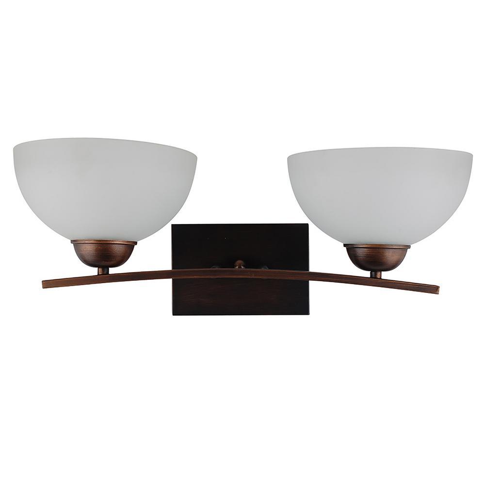 2-Light Coffee Bath Light