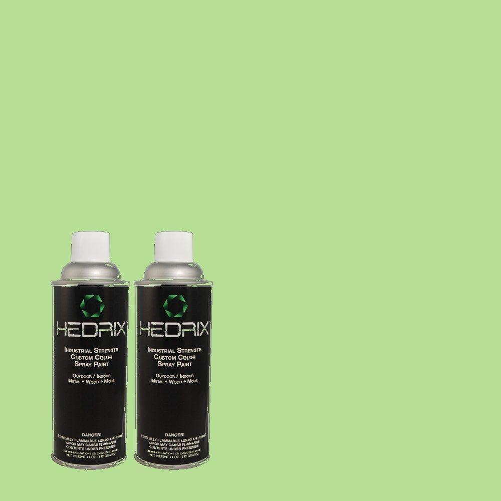 Hedrix 11 oz. Match of 440B-4 Cool Aloe Flat Custom Spray Paint (2-Pack)