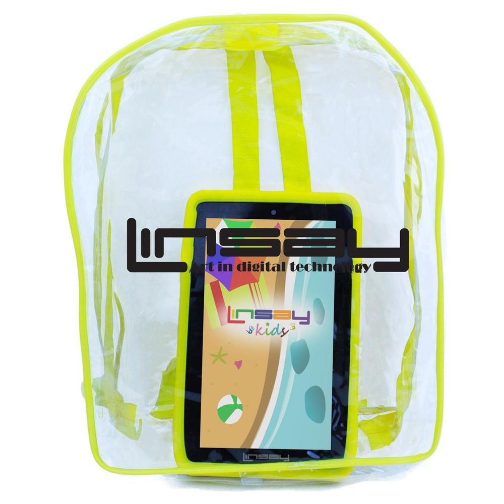LINSAY 7 in. 2GB RAM 16GB Android 9.0 Pie Quad Core Tablet with Yellow Kids Defender Case and Backpack was $129.99 now $69.99 (46.0% off)