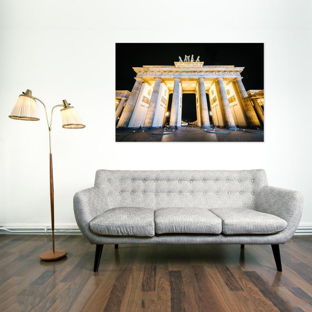 24 In X 36 In Brandenburg Gate At Night In Berlin Germany Printed Canvas Wall Art