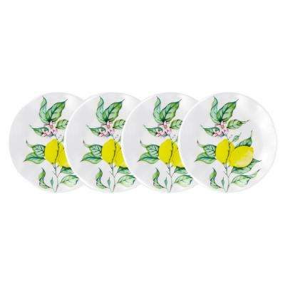 Limonata 4-Piece Yellow Melamine Appetizer Plate Set