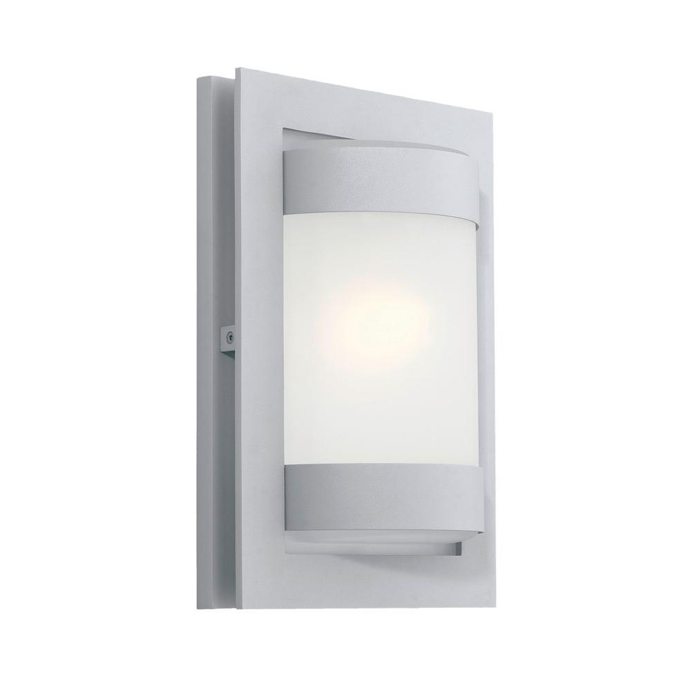 Archa 1-Light Silver Outdoor Wall Lamp