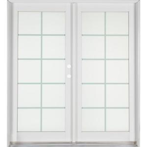 Lovely Ashworth Professional Series 72 In. X 80 In. White Aluminum/Wood French  Patio Door PRO6068PS10LTIWBRS   The Home Depot