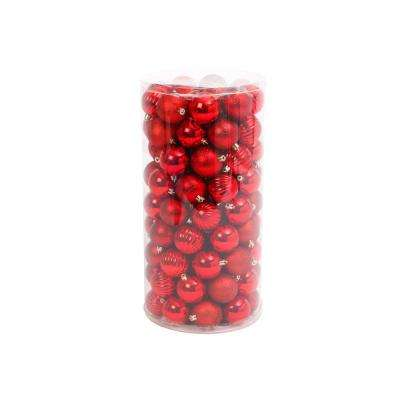 Red Shatterproof Ball Ornaments (100-Pack)