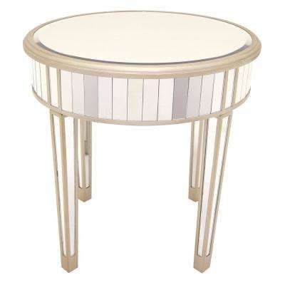 23.5 in. x 23.5 in. Champagne Mirrored Accent Table