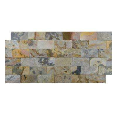 Indian Autumn 3 in. x 6 in. Slate Peel and Stick Wall Tile (5 sq. ft. / pack)