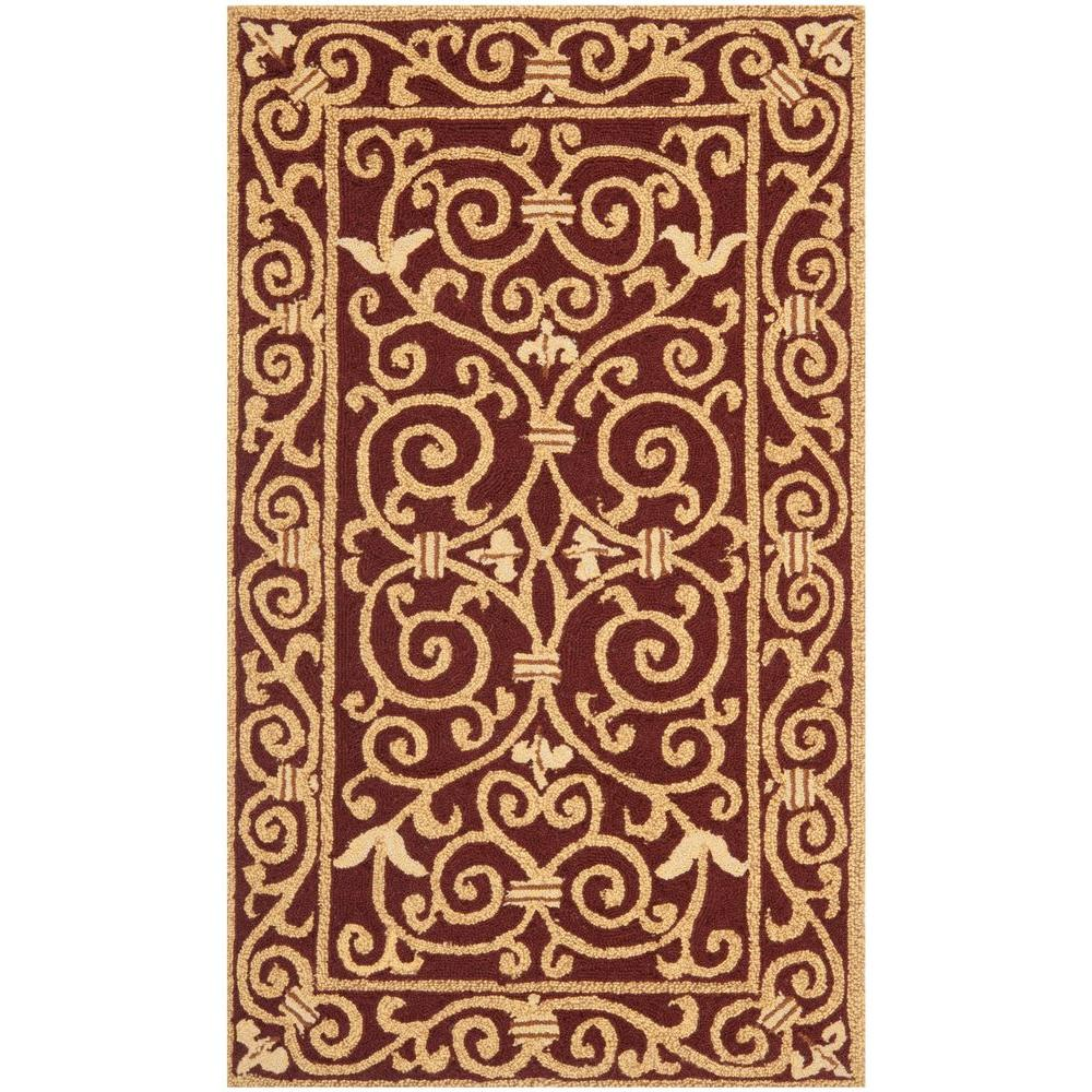Safavieh Chelsea Burgundy 2 ft. 6 in. x 4 ft. Area Rug