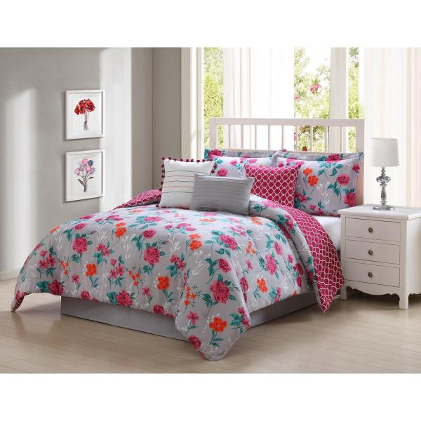Kimley Reversible 7-Piece Queen Comforter Set YMZ007599