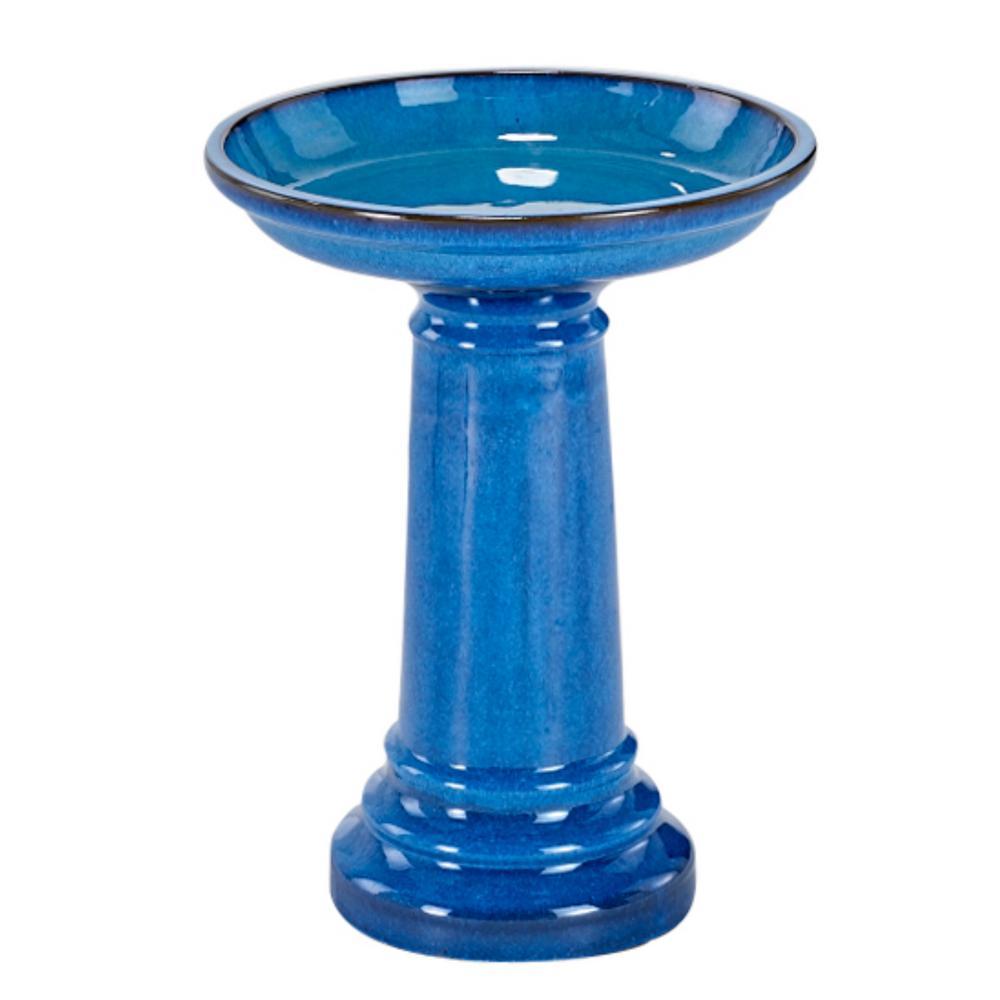 Aviatra Ceramic Blue Transitions Birdbath