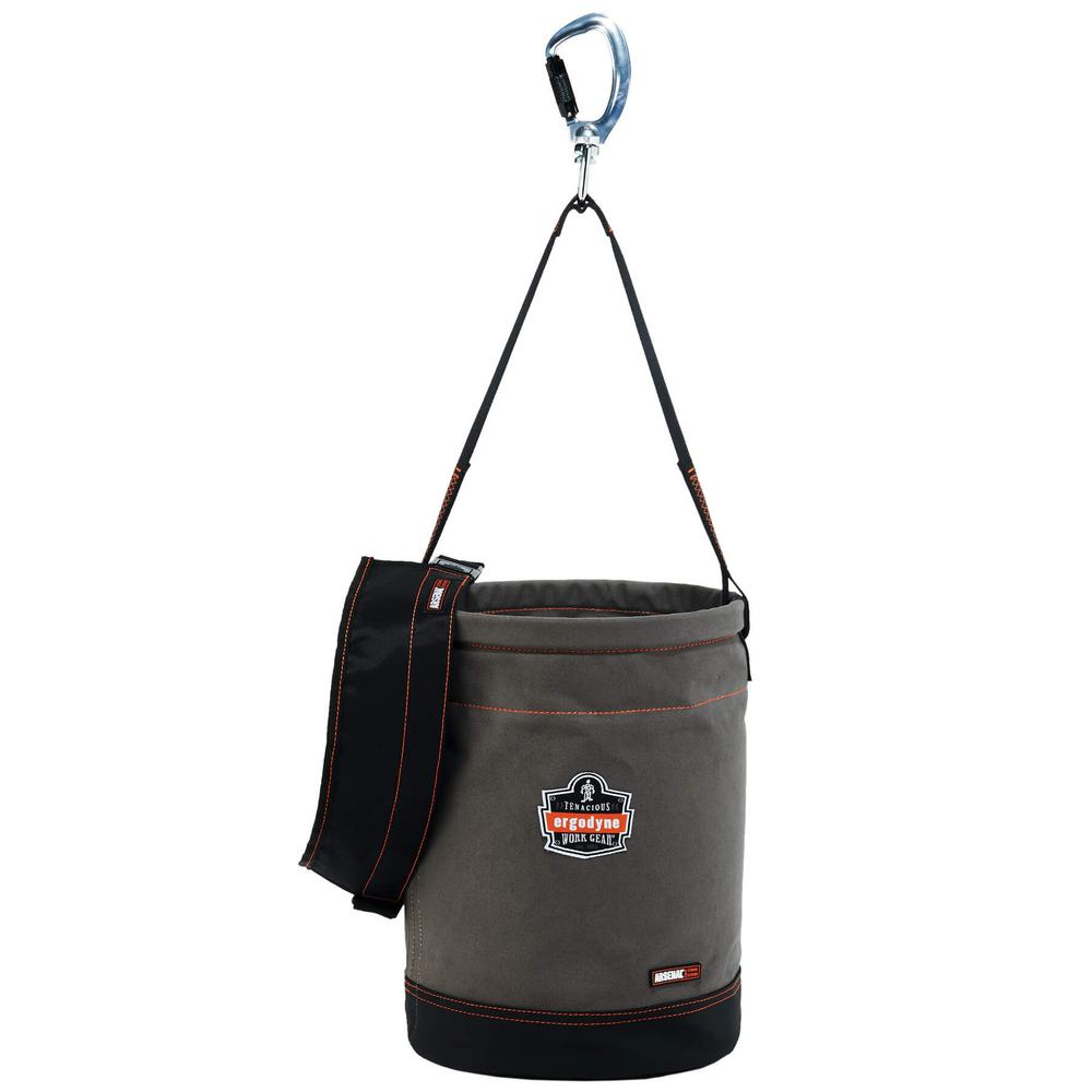 Arsenal 12.5 in. Tool Bucket with Top Gray Canvas