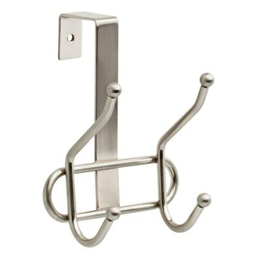 Liberty Devoe Over-The-Door /& Cabinet Door Single Quad Hook Satin Nickel Finish