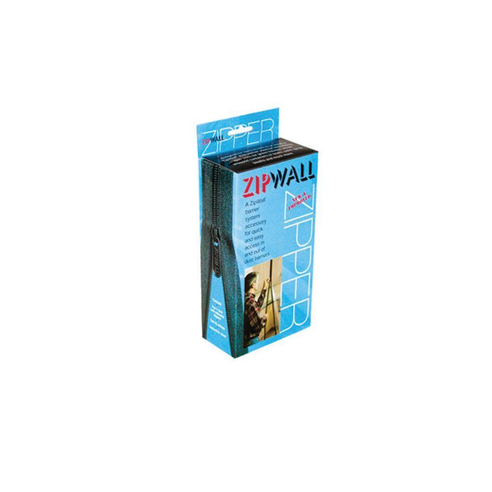 Zipwall 7 ft standard zipper for barrier protection 2 for Window zipper home depot