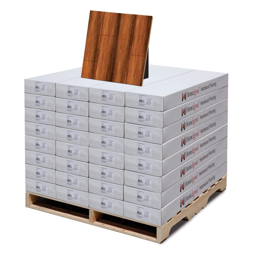 Home Legend Hand Scraped Manchurian Walnut 3/8 in. T x 4-7/8 in. W x 47-1/4 in. L Hardwood Flooring(833.60 sq. ft. / pallet)