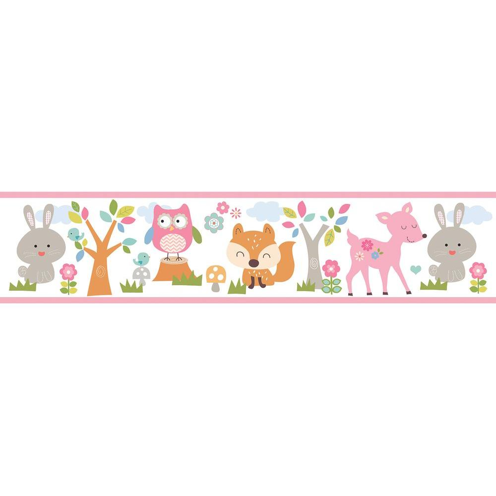 Leo Pink Country Club Wallpaper Border Sample