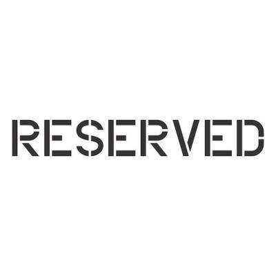 10 in. Reserved Stencil