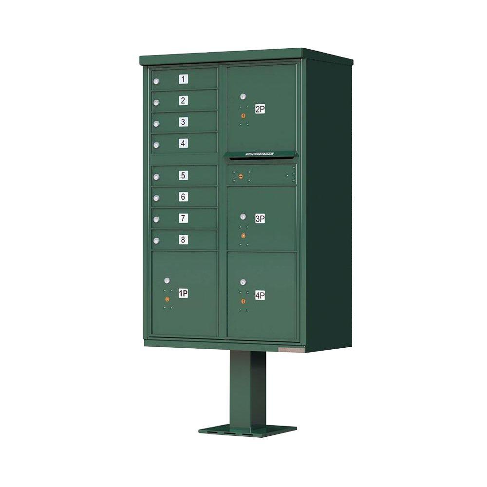 Florence 1570 Series 8 Mailboxes, 1 Outgoing Compartment, 4 Parcel Lockers, Vital Cluster Box Unit