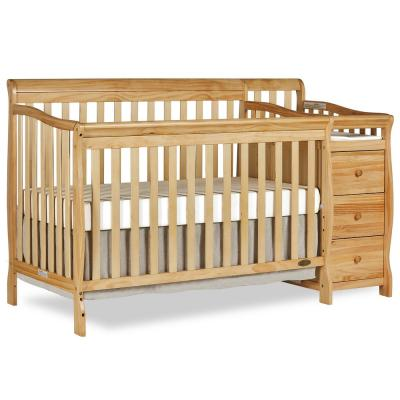 Brody Natural 5-in-1 Convertible Crib with Changer