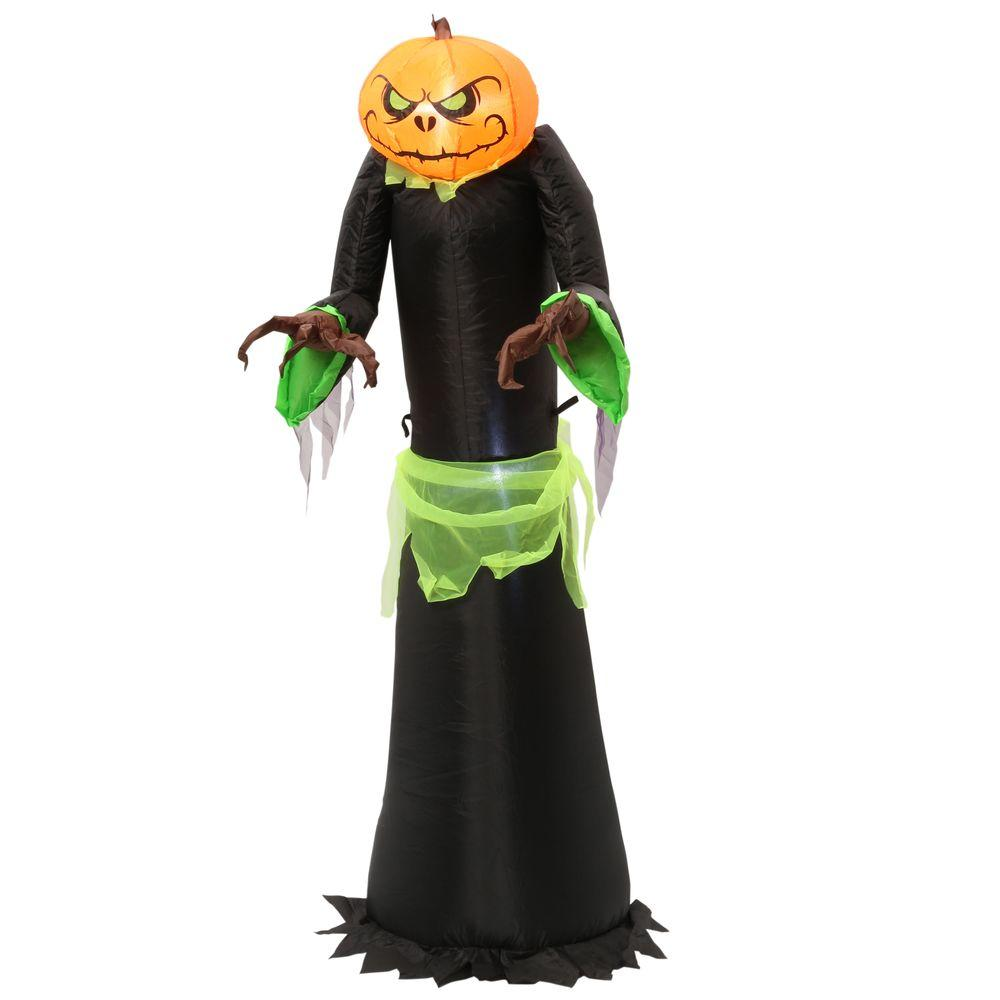 Home Accents Holiday 5 Ft Inflatable Pumpkin Reaper 70384