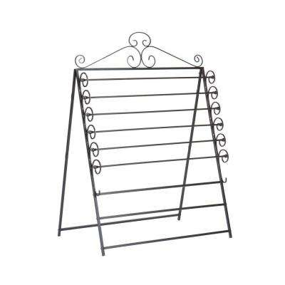 Easel/Wall Mount Craft. Black Storage Rack