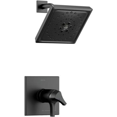 Zura TempAssure 1-Handle Shower Faucet Trim Kit with H2Okinetic Spray in Matte Black (Valve Not Included)