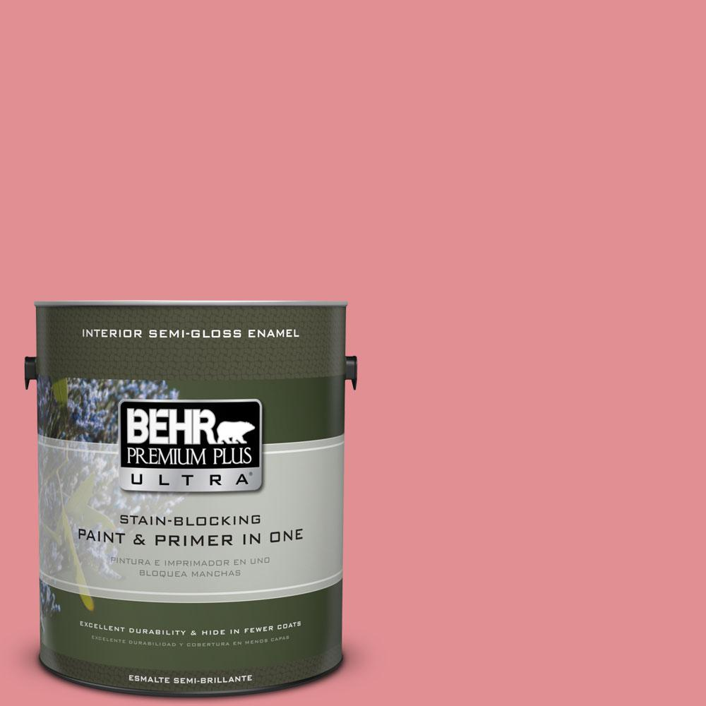 1-gal. #140D-4 Fresh Pink Semi-Gloss Enamel Interior Paint