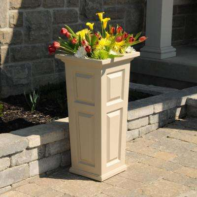 Nantucket 15-1/2 in. Square Clay Plastic Column Planter