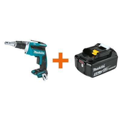 18-Volt LXT Brushless Cordless Drywall Screwdriver with Push Drive Technology with bonus 18-Volt LXT Battery Pack 5.0Ah