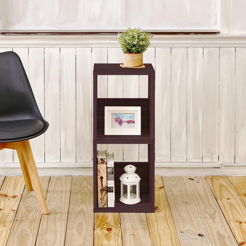 Duo Eco zBoard Tool Free Assembly Espresso Open Bookcase