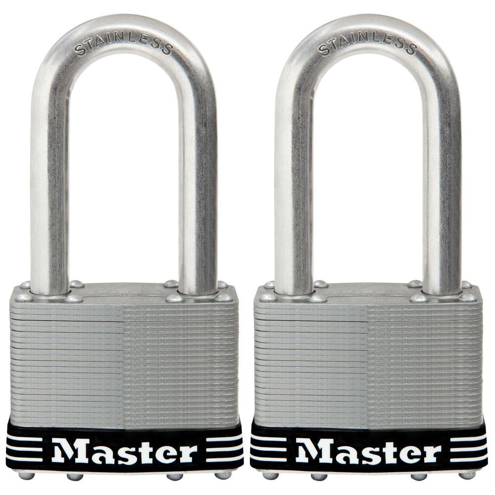 2-1/2 in. Laminated Stainless Steel Keyed Padlock with 2-1/2 in. Shackle