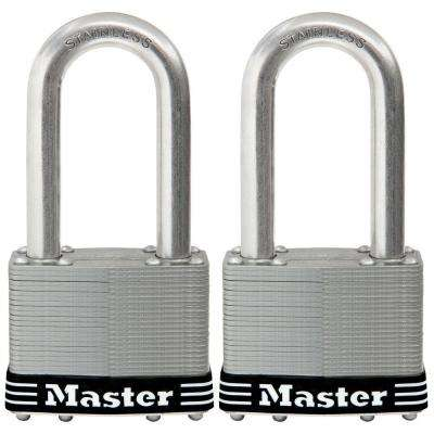 2-1/2 in. Laminated Stainless Steel Keyed Padlock with 2-1/2 in. Shackle (2-Pack)
