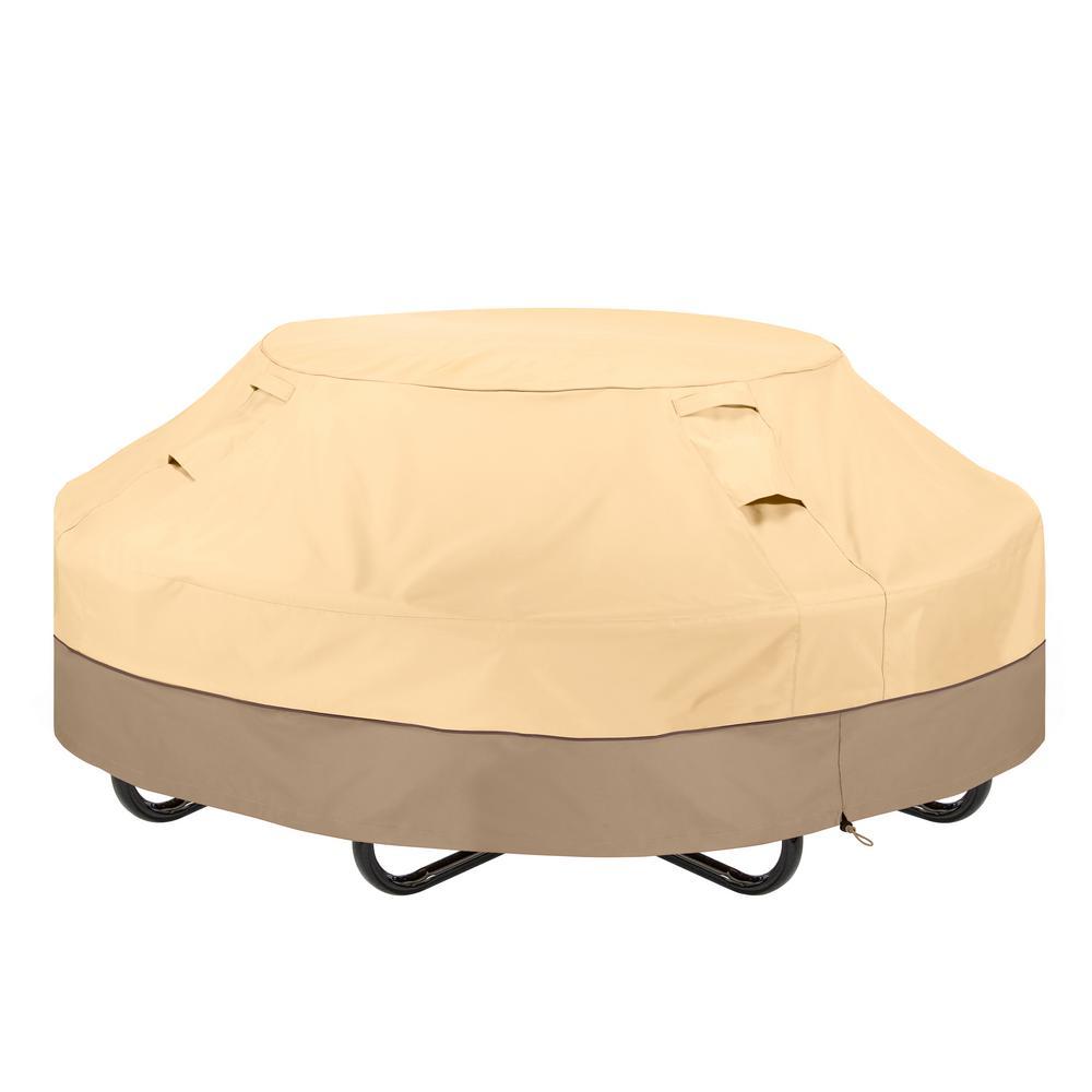Veranda 80 in. L x 80 in. W x 30 in. H Round Picnic Table Cover